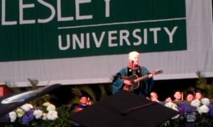 Graham Nash at Art Institute of Boston/Lesley University 2013 Graduation.