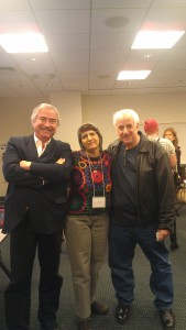 Consultant Holland Cooke, Professor Donna Halper, Publisher Mike Harrison at the 2013 Boston IBS Conference, Simmons College.