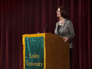 Julia Gillard Speaking at Marran Theater. Photo by Emma Spear.