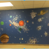 A mural created by Lesley students during ASB.